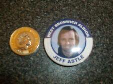 Jeff Astle West Bromwich Albion FC Leyenda placa 38mm, Brom WBA West