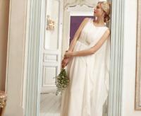 Monsoon Women's Bridal Ivory Kora Cocktail Wedding Occasion Long Dress UK 10 38