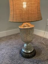 Pottery Barn Serena Vintage Mercury Glass Lamp (Shade And Bulb Not Included)