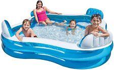 Intex Pool Family Lounge Pool mit 4 Sitzecken Personen 229x229x66 cm
