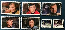 CANADA 2016 #s 2913-2914 2917-2921  STAR TREK  SET OF 5 + 2 COILS