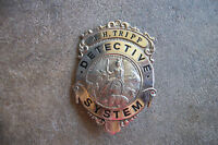 obsolete 1940 J.H. Tripp Detective System California sheriff police badge