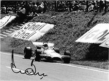 Derek Bell firmato, ORIGINALE Press Photo, F1 BRABHAM BT26A, GP Belgio Spa 1970