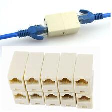 BUAU 10pcs RJ45 CAT5 Coupler Plug Network LAN Cable Extender Connector Adapter