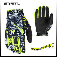 Guanto Glove Cross Enduro Quad O'neal ONeal Matrix Attack Nero Giallo Fluo L