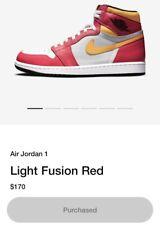 Air Jordan 1 High OG Fusion Reds 10.5