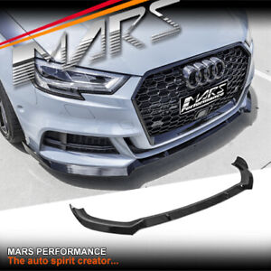 Black Front Bumper Bar LIp Spoiler for AUDI A3 S-line S3 8V 17-20 Sedan Bodykit