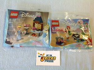Lego Disney Princess Lot of 2 Polybags 30551 & 30552 New/Sealed/Retired/H2F