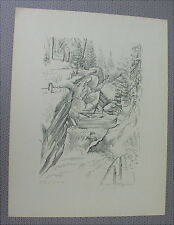Antike Grafik San Bernardino A.H. Pellegrini signiert Schweiz