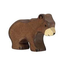 Holztiger 80185 Ours Brun Petit (avant 3410) Animal en Bois Neuf ! #