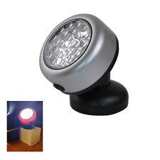 1x 24 LED Plata Redondo Magnético mecánica Azul Luz De Trabajo Antorcha alimentado por batería