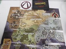 Borderlands 2: The Art & Design Book with Pandora Map Poster and 4 sticker set