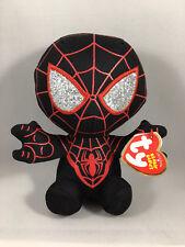 "2019 Ty Beanie Baby 6"" Marvel Miles Morales Spider-Man Spider Verse Plush MWMTs"