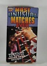 WWF Most Unusual Matches Ever Vhs Tape