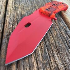 CSGO RED BLADE Fixed Blade HUNTSMAN KNIFE Hunting Tactical Bowie Survival -S