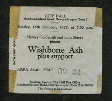 Original 1977 Wishbone Ash Concert Ticket Stub Newcastle UK Front Page News