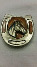 Vintage  Horseshoe Horse Belt Buckle