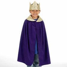 Royal King Queen Prince Cloak & Crown 3-9 years boys girls fancy dress costume