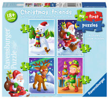 New! 06854 Ravensburger Christmas Friends My First Puzzles Toddler Jigsaws 18m+