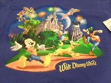 Walt Disney World Mickey Mouse Goofy Pluto & Friends Blue t-shirt youth NWT