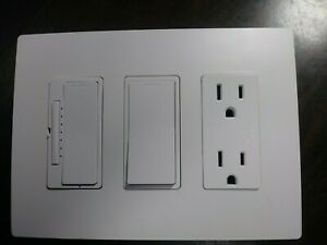 LEGRAND RADIANT 3 GANG RECEPTACLE OUTLET ON/OFF SWITCH DIMMER NEW NO BOX