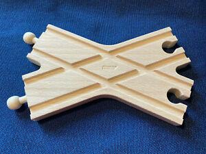 BRIO 33384 Kreuzung Weiche H2 (A) RARITÄT SELTEN - Criss Cross Switch Track VHTF