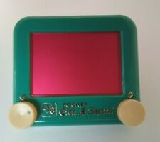 Magic Pocket Etch A Sketch By Ohio Arts Green With Red Small Toy Plastic Vintage