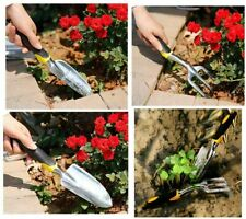 Dorathye Garden Tool Set, 3 Piece Heavy Duty Cast-Aluminum Heads Gardening Kit