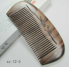 12-3 QiaoYaTou Nice Natural Rosewood Unisex Fine-toothed Health Care Comb