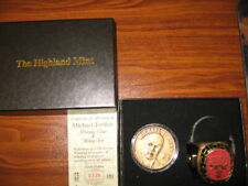 1998 Highland Mint M Jordan Bronze Coin & Ring Set 339/25,000 Free Shipping