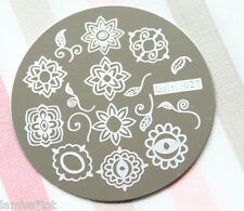 Nail Art Stamping Schablone Qgirl 27 stainless steel Blume Ornament Ranke