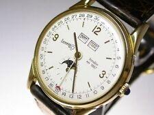 Silber Armbanduhren mit Armband aus echtem Leder und 12-Stunden-Zifferblatt