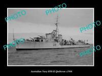 OLD POSTCARD SIZE AUSTRALIAN NAVY PHOTO OF THE HMAS QUIBERON SHIP c1950