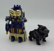 Transformers Kids Toy Action Figures 2 pc Lot Purple Robot & Dog Creature