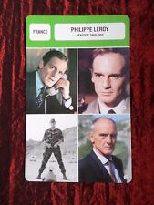 PHILIPPE LEROY  -  MOVIE STAR - FILM TRADE CARD - FRENCH - #1