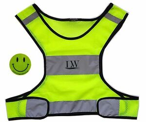 LW Reflective Safety Vest Running Jogging Biking Walking Size New Size L/XL