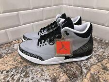 Nike Air Jordan 3 Retro Wolf Grey Metallic Silver Black SZ 12 136064-004