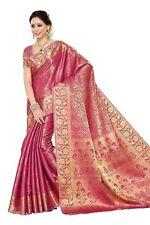 Women'S Silk Saree With Blouse Piece (197-Sd-Pnk_Pink)