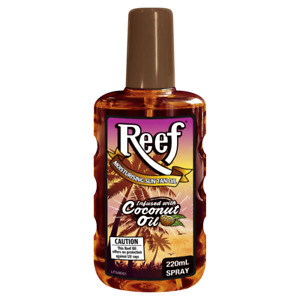 Reef - Moisturising Sun Tan Oil Infused With Coconut Oil Spray 220ml