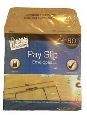 80X Quality Wage Slip Packet/Dinner Money Envelopes Brown Manilla Self Seal D21