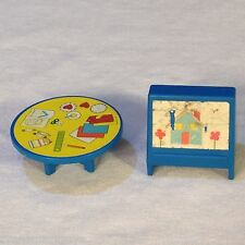 Vintage 1978 Fisher Price We Play Nursery School #929 Replacement Table & Easel