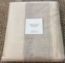 "* RESTORATION HARDWARE Linen-Cotton Sheer Stripe RP Panel 100"" X 84"" Sand/Linen"