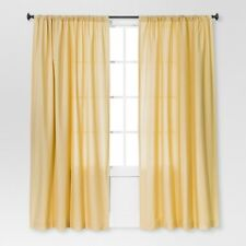 "Threshold Yellow Farrah Curtain Panel Light Filtering Target 54"" x 84"" New"