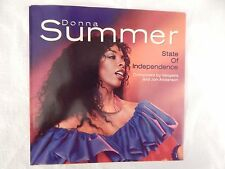 "Donna Summer ""State Of Independence"" PICTURE SLEEVE! NEW! ONLY NEW COPY ON eBAY!"