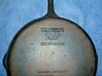 "Vtg WAGNER 1891 ORIGINAL 11-3/8"" CAST IRON FAT FREE FRYER SKILLET made in USA"