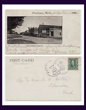 MICHIGAN PINCKNEY MAIN STREET 1907 TO REV & MRS GATES OF EDMORE, MONTCALM COUNTY