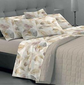 Bettwäsche für Doppelbett/Ehebett aus 100% Baumwolle. Bettwäsche-Set 4-teilig