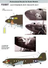 Foxbot Decals 1/72 DOUGLAS C-47 PIN-UP NOSE ART Sucka & The Lonesome Angel