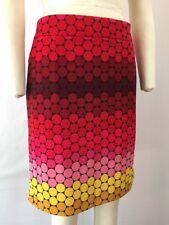 Premise Polka Dot Pencil Skirt 8 Knee Length Pink Red Coral