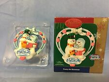 Carlton Cards Christmas Ornament FROSTY THE SNOWMAN AND KRYSTAL